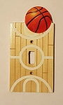 Basketball Court Light Switch Plate Cover